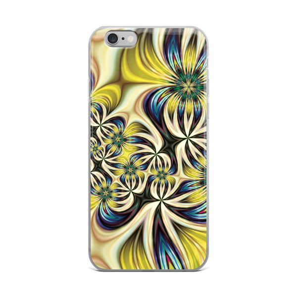 Lemon and Lime Floral iPhone Case