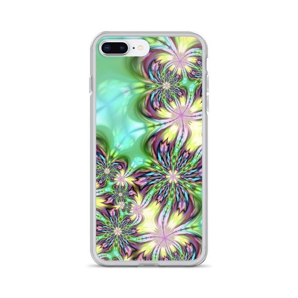 Pink and Green Fractal iPhone Case