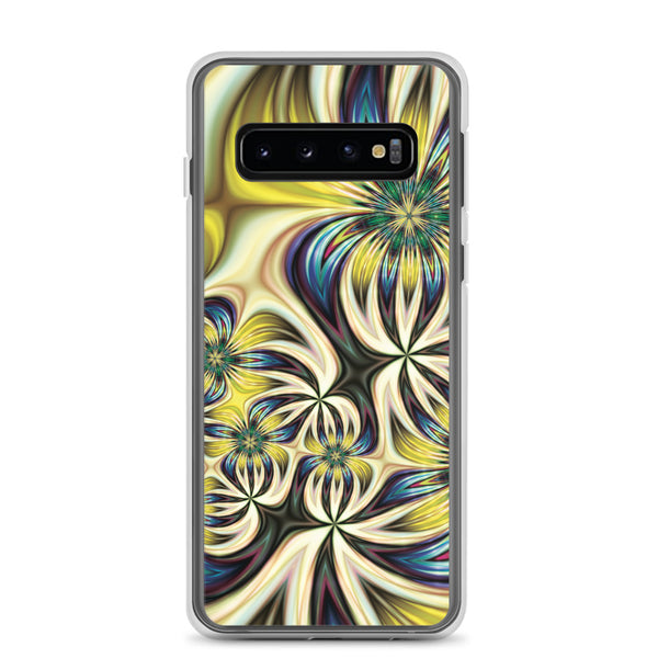 Yellow Abstract Floral Samsung Case