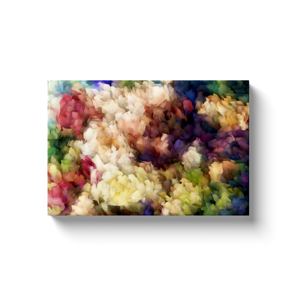 Abstract Floral Art on Canvas