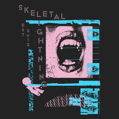 Skeletal Lightning Mouth Long Sleeve T-Shirt