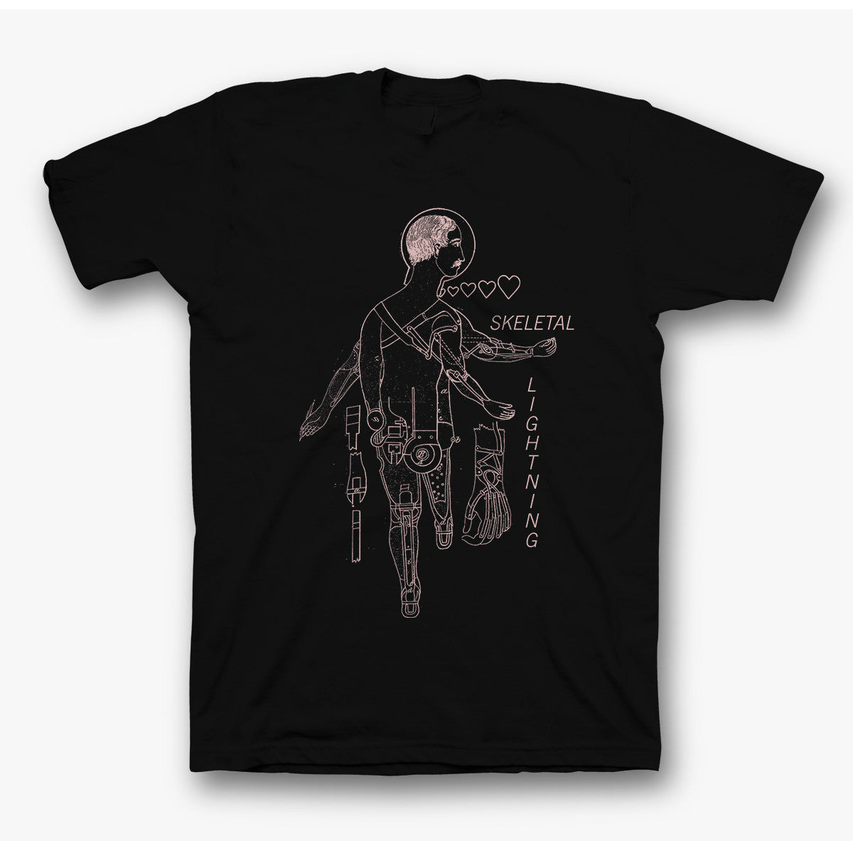 Skeletal Lightning - Cyborg T-shirt