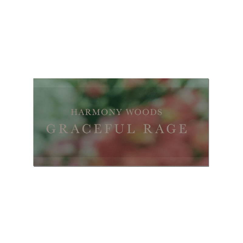 Harmony Woods GRACEFUL RAGE Logo Sticker