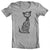 Skeletal Lightning Cat T-shirt