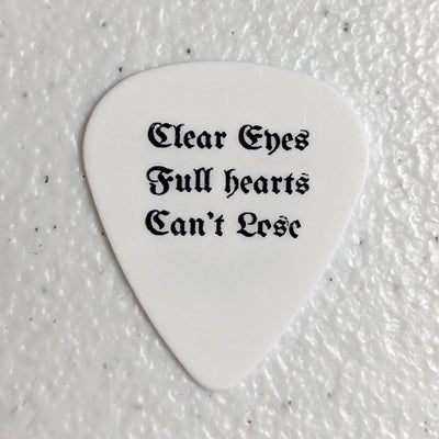 "Skeletal Lightning ""Clear Eyes"" Guitar Pick"
