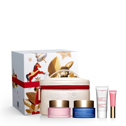 <strong> CLARINS <br> PROGRAMME MULTI-ACTIVE </strong><br> Coffret Soin Visage