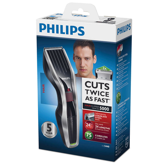 <strong>PHILIPS <br>HAIRCLIPPER SERIES 5000 - HC5440</strong><br>Tondeuse à Cheveux