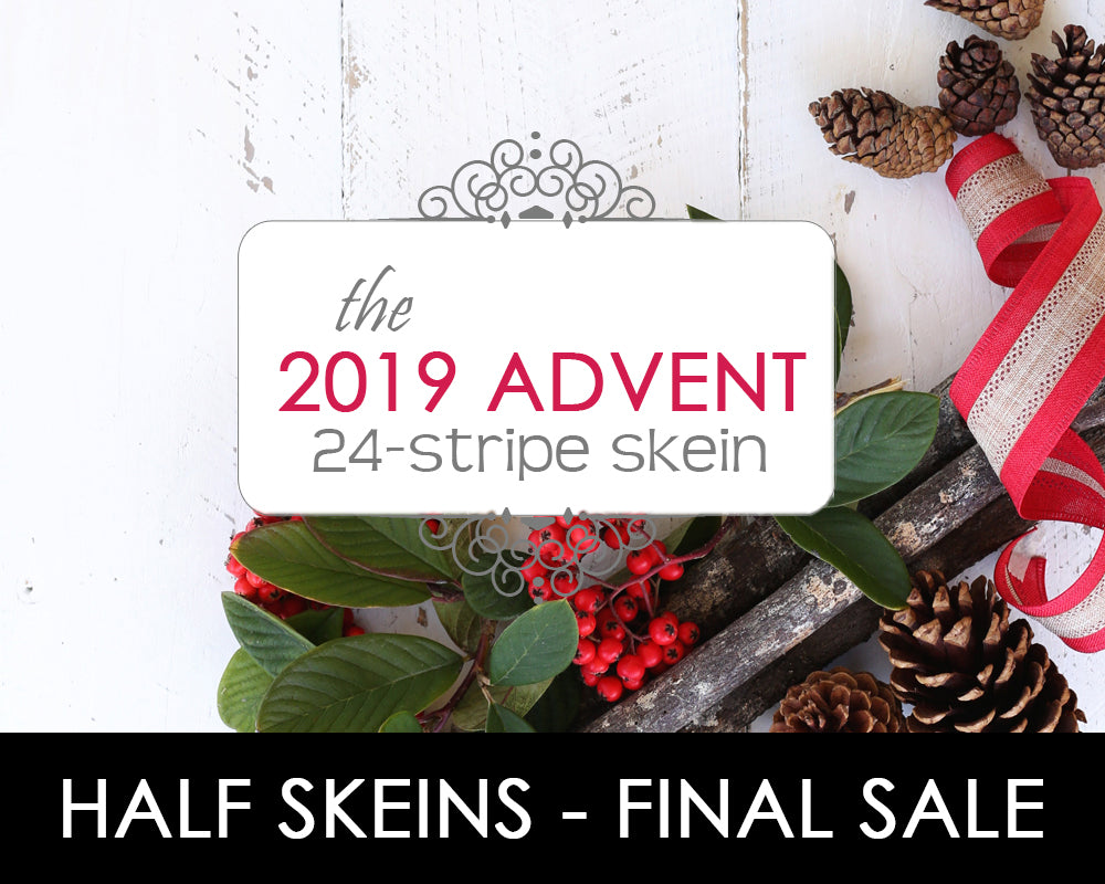 2019 ADVENT | 24-stripe skein **HALF SKEIN**