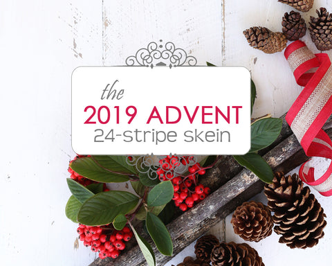 2019 ADVENT | 24-stripe skein *YOTM pre-sale*
