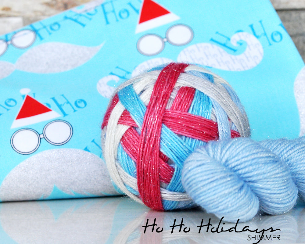 HO-HO-HOLIDAY KIT | self-striping yarn and project bag
