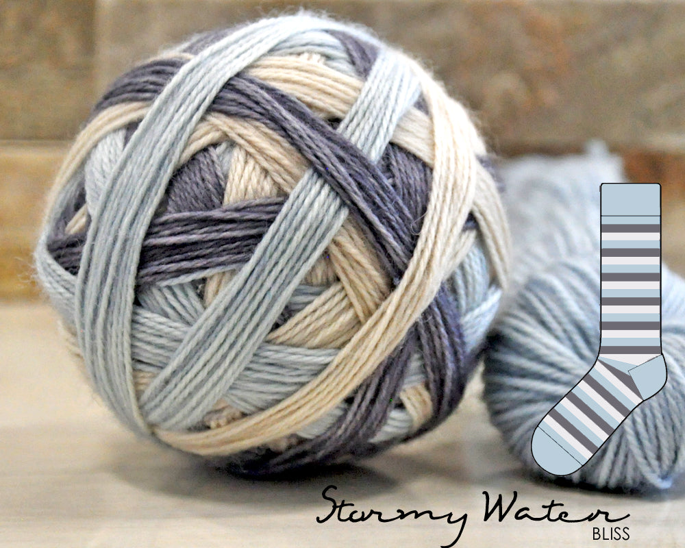 STORMY WATER | Bliss | Blue mini-skein