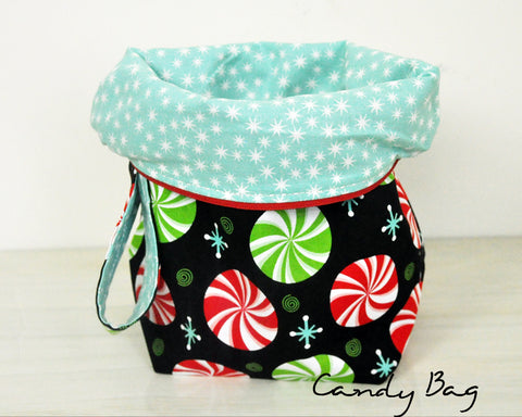 CANDY BAG w/teal stars inside