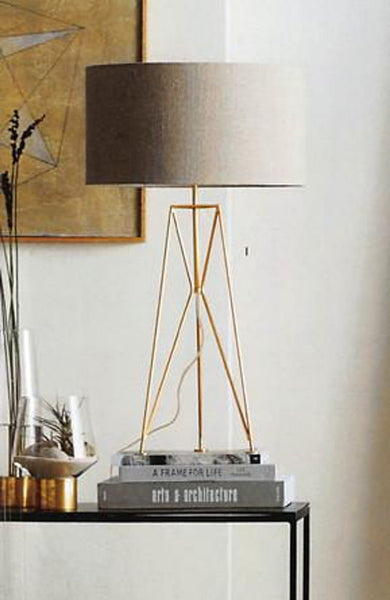 Brass Trestle Table Lamp