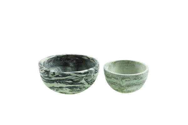 Marbled Cement Nesting Bowls