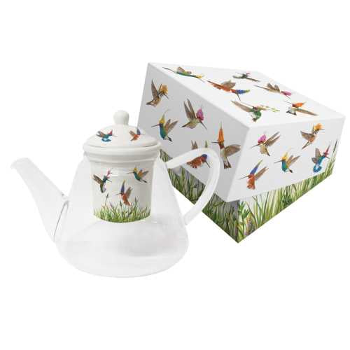 Meadow Buzz Tea Pot w/Strainer, Glass