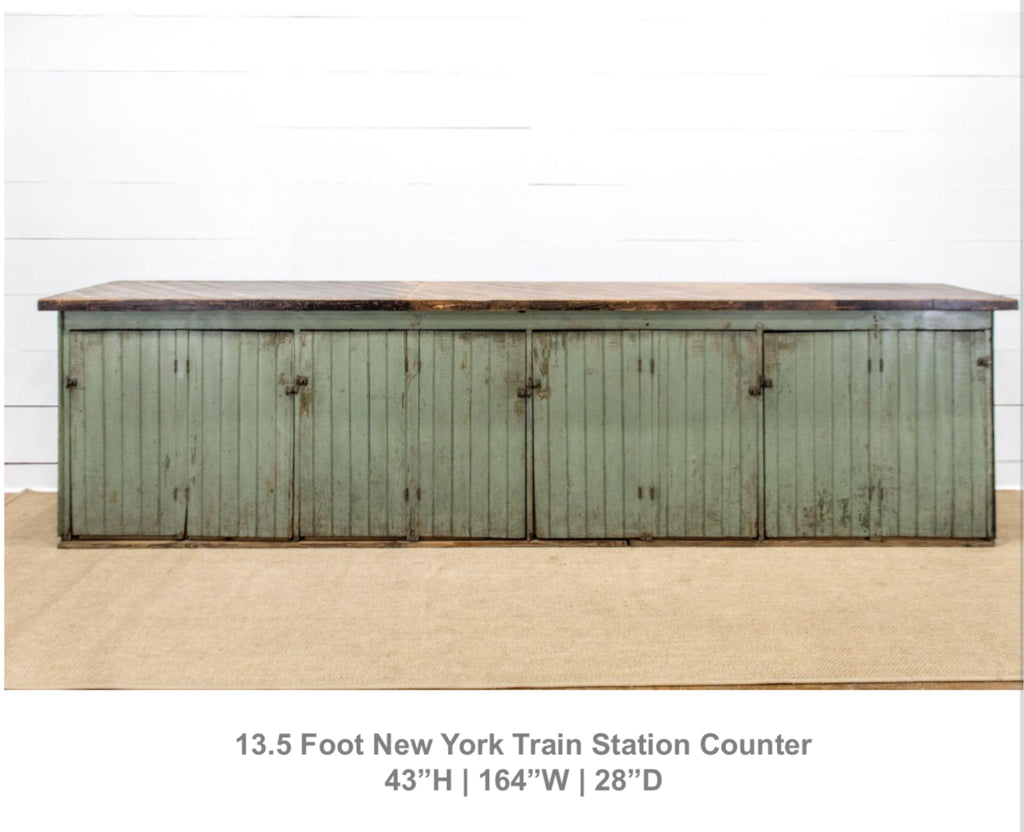 "13'5"" Train Station Counter"