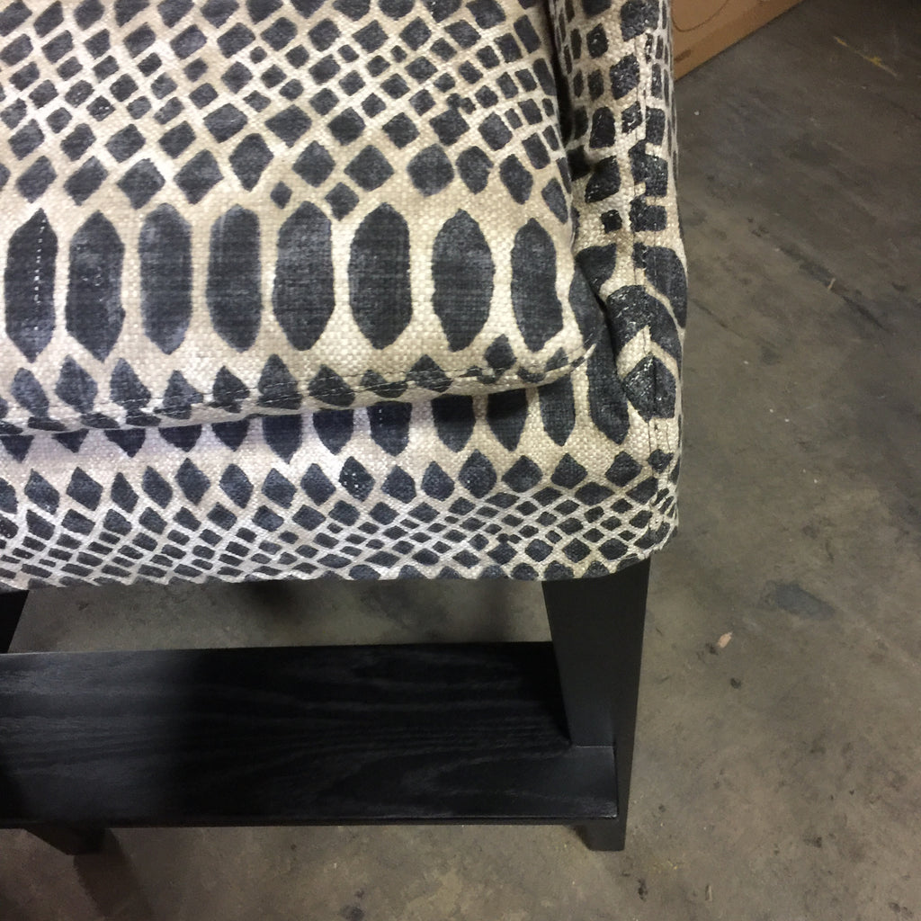 Slipcovered Campaign Bar Stool