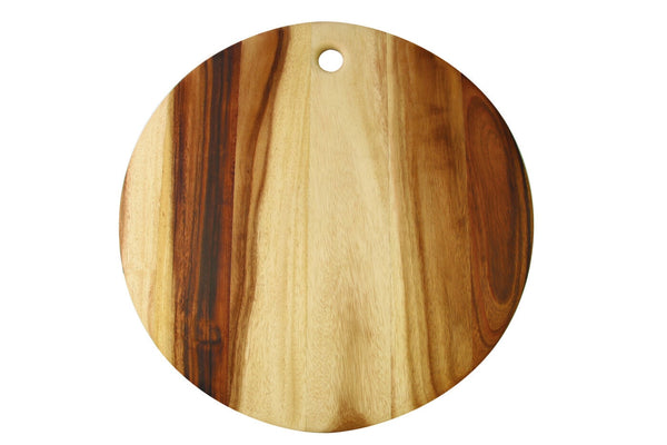 Acacia Round Board with Tapered Edge