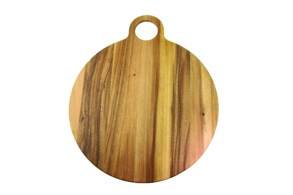Acacia Round Board with Round Handle