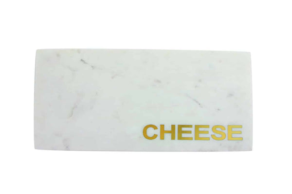 White Marble & Gold Cheese Board