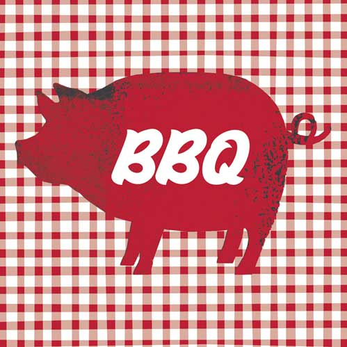 BBQ Pig Lunch Napkin