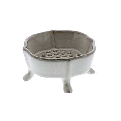 Ceramic Footed Soap Dish