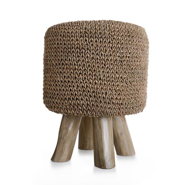 Equestrian Woven Foot Stool