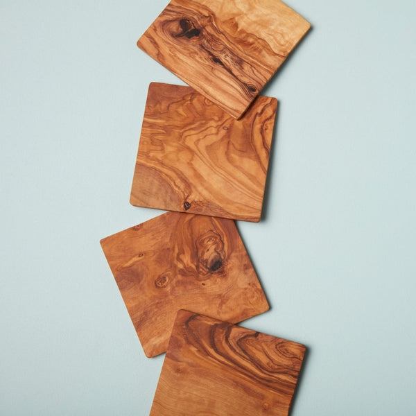 Olive Wood Square Coasters