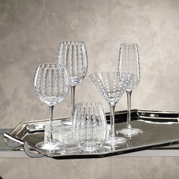 White Dot Glassware