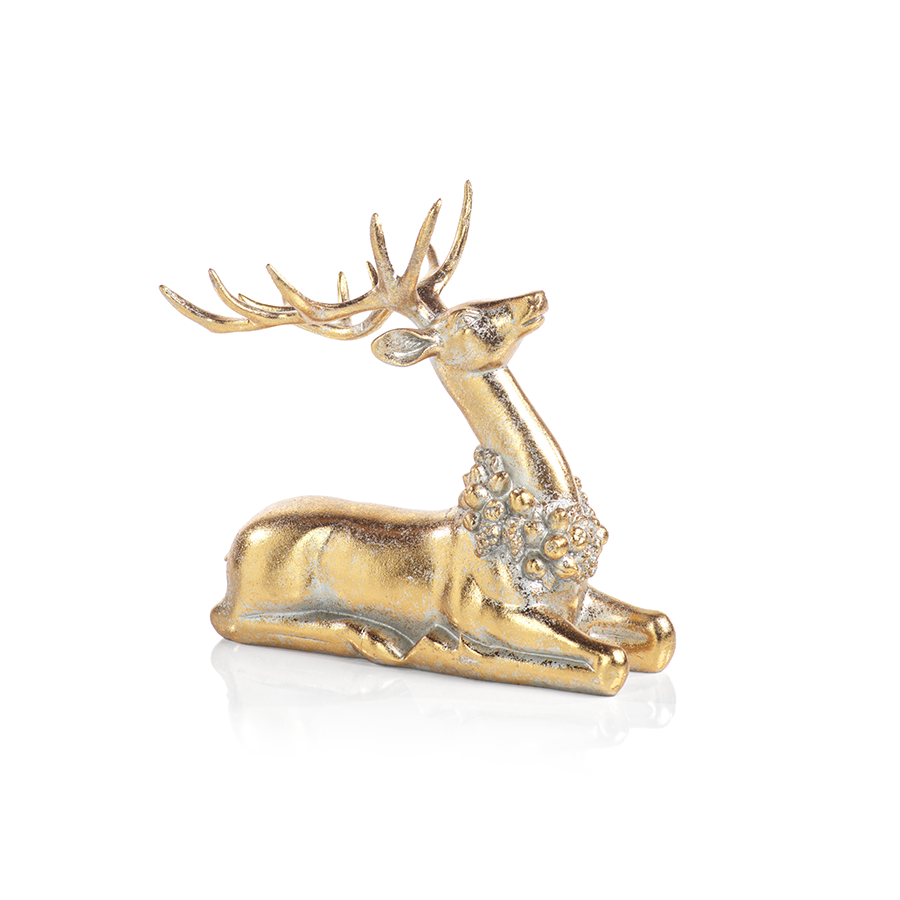 Gold Deers with Ornamental Wreath