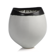 Load image into Gallery viewer, Trento Eclipse Vase with Black Volcanic Rim