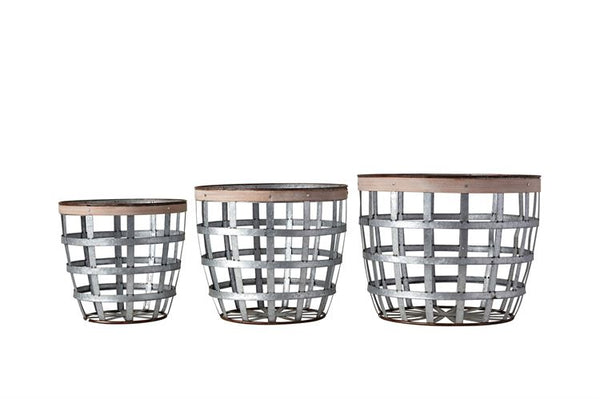 Wood Strip Baskets