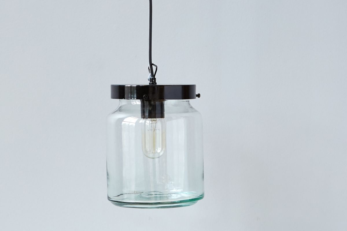 Glass jar pendant light Bronze Pendant Ta Lorton Glass Jar Pendant Ta Lorton
