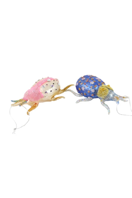 Pastel Beetle Ornaments