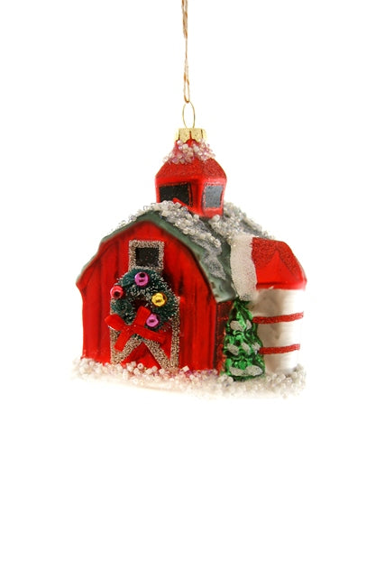 Festive Vintage Barn Ornament