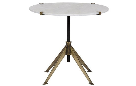 Brass and Marble Adjustable Table- Small