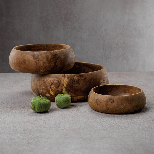 Bali Set of 3 Teak Root Bowls