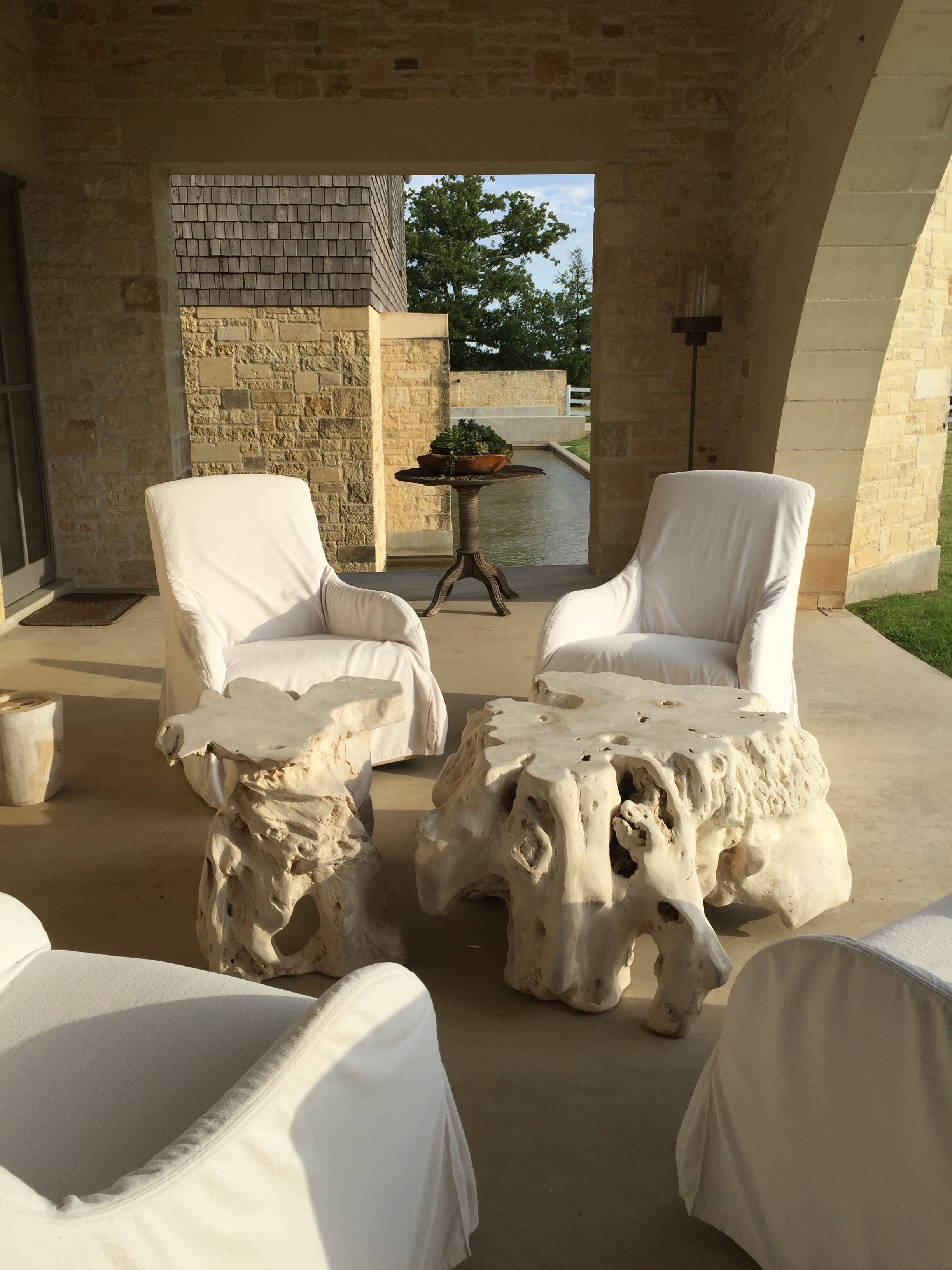 fbd78013a668f Bleached Root Coffee Tables - T.A. Lorton