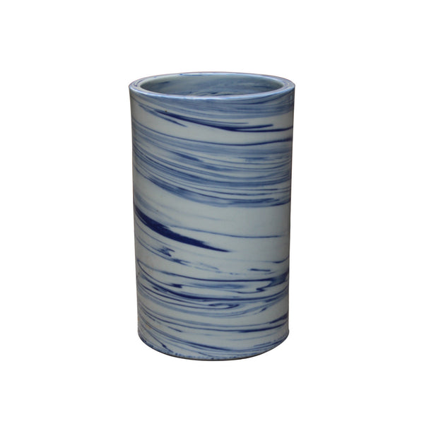 Blue and White Marble Vase