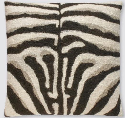 Hand Painted Zebra Pillow