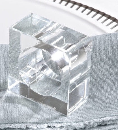 Crystal Napkin Ring Set/4