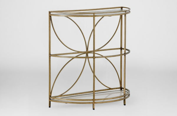 Gold Demilune Table