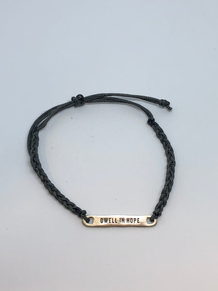 Dwell in Hope Braided Bracelet