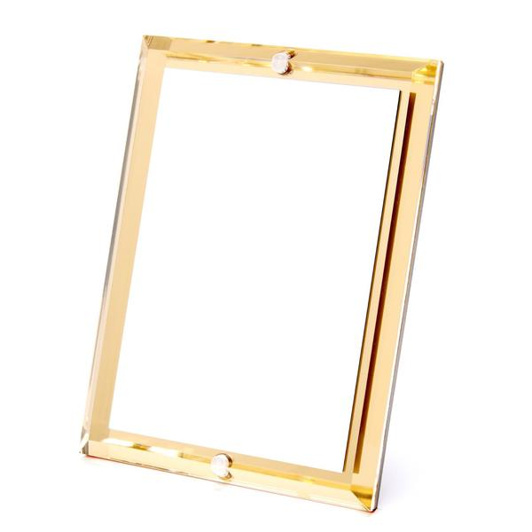 Gold or Silver Mirror Beveled Frame