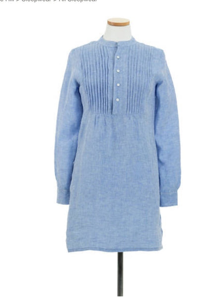 Chambray Pleated Linen Tunic