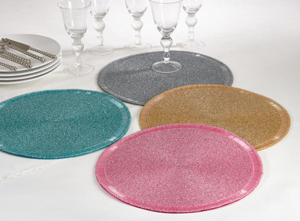 Beaded Placemat Pewter