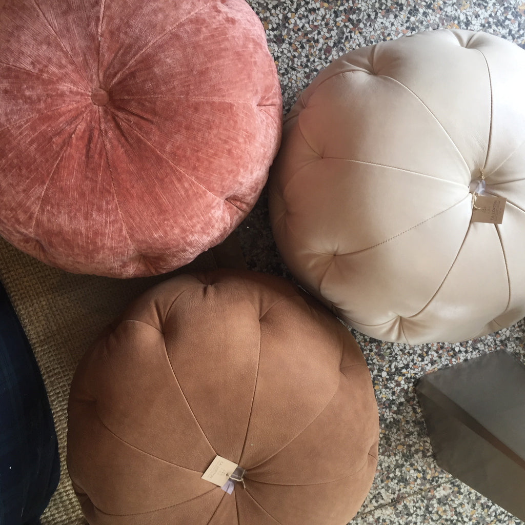 Marvell Latte Pouf