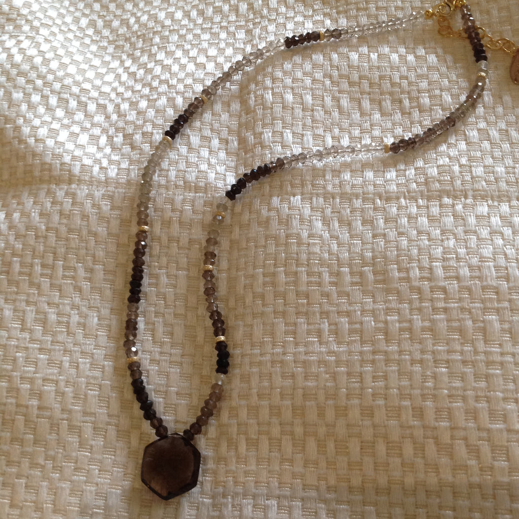 Smoked Quartz Topaz Necklace