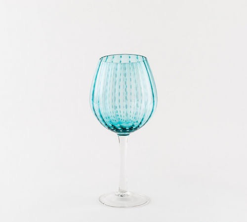 Aqua Wine Glass
