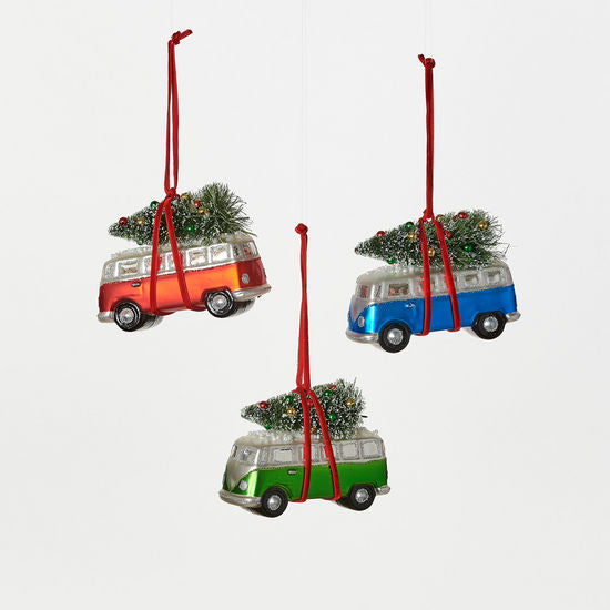 Bus with Tree Ornament